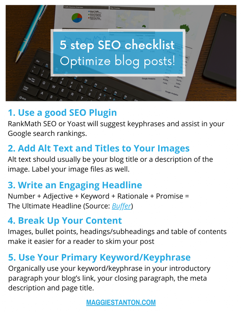 5 Step SEO Checklist for Blog Posts
